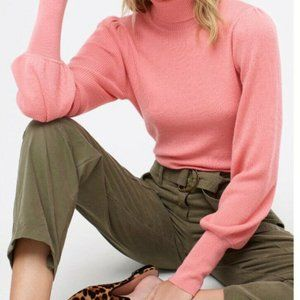 J Crew  XXL Balloon-sleeve turtleneck sweater